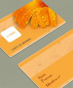 impression-carte-fidélité-plastique-pvc-orange-fleuriste