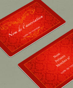 impression-carte-pvc-carte-adhérent-privilegium-rouge