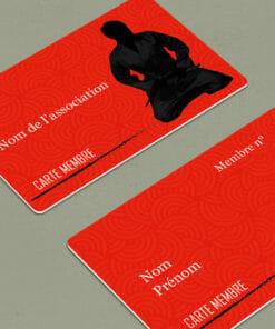 impression-carte-plastique-pvc-carte-d'adhérent-rouge