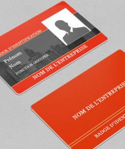 impression-carte-pvc-badge-agent-de-sécurité-personnalisé-rouge-avec-photo