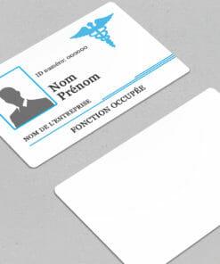 impression-carte-pvc-badge-personnalisé-infirmière