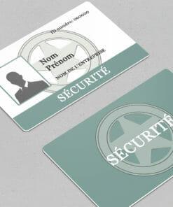 badge sécurité à personnaliser directement en ligne de manière nominative avec photo