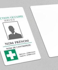 badge hopital à personnaliser pour l'adapter à votre établissement medical