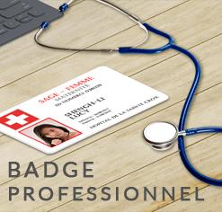 Badge professionnel nominatif