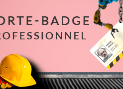 Porte badge professionnel