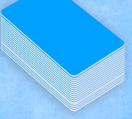 Collection de badge pro de couleur bleu