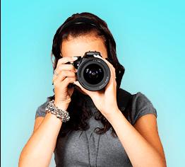 Création en direct de votre futur badge de photographe professionnel
