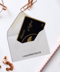 enveloppe pour carte plastique, carte de membre, carte cadeau, bon cadeau format 86x54mm