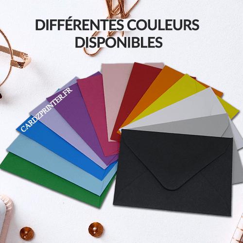 L'enveloppe carte bon cadeau existe en plusieurs couleurs à choisir. idéal aussi pour carte membre, carte de visite, badge et autres carte plastique format 86x54mm