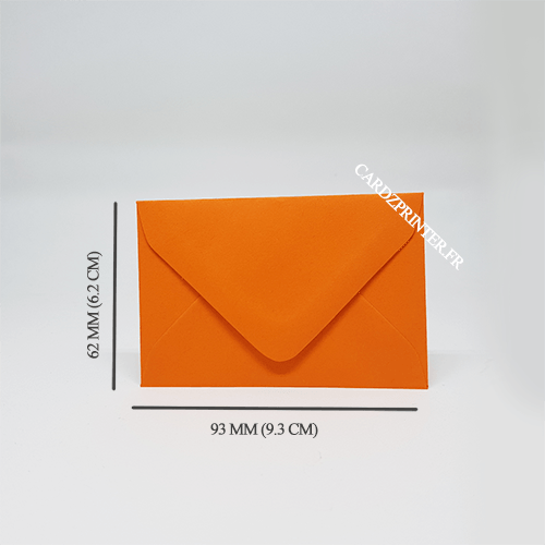 dimension emballage carte membre association orange
