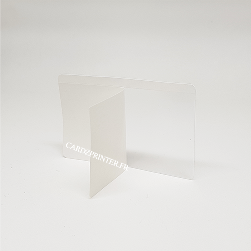 produit vendu à l'unité - protection adhésive transparente pour carte et badge