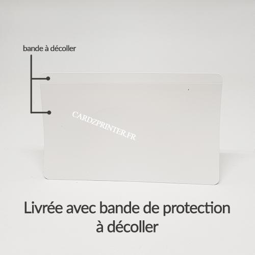 explication d'utilisation de la protection adhésive à coller sur votre carte ou badge plastique