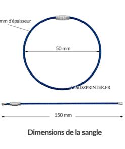 dimension de la sangle bagage cardzprinter de 150mm de long
