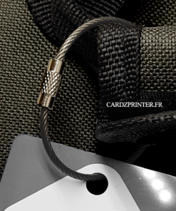 sangle étiquette noire compatible étiquette bagage et porte clés