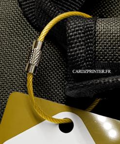 sangle idéale pour bagage en acier de couleur jaune
